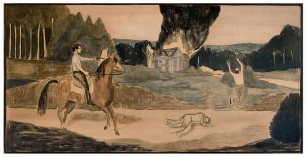 Pierre Seinturier, Crevez-tous, 2012. Peinture à l'huile, 95 x 197cm.