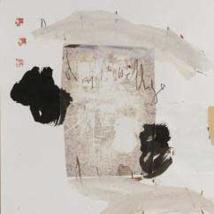 N°2 acrylique et collage sur papier 50 x 50 cm
