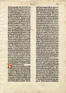 Devenez détenteur d'un feuillet de la Bible à 42 lignes de Gutenberg imprimé en fac-similé au moyen de caractères mobiles en plomb et rubriqué à la main