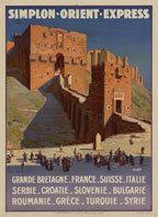 Affiche pour le Simplon-Orient Express, représentant la Citadelle d'Alep, De La Nezière, 1927