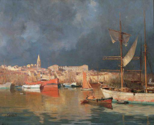 Joseph Garibaldi Effet d'orage au couchant sur le Vieux-Port, 1914 Huile sur toile, 100 x 122 cm Collection Fondation Regards de Provence