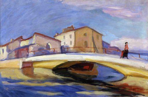 Charles Camoin Personnage sur le pont de Martigues, 1904 Huile sur toile, 54 x 81 cm Collection Fondation Regards de Provence © Adagp, Paris 2013