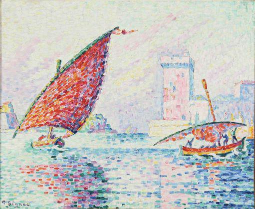 Paul Signac Fort Saint-Jean, 1907 Huile sur toile, 50 x 61 cm Collection Musée de l'Annonciade, Saint-Tropez © P. S. Azema