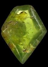 Olivine taille médiévale, 5 carats, issue du trésor de Saint Denis © MNHN F. Farges