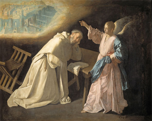 Francisco de Zurbarán Saint Peter Nolasco's Vision of the Heavenly Jezuralem 1629 Oil on canvas, 179 x 223 cm Inv. P1236 Madrid, Museo Nacional del Prado