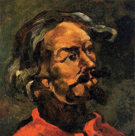 Cézanne, Portrait d'Achille Emperaire, 1867-68, 42 x 40 cm peinture murale transférée sur toile, ill, Kuneo Fukamoto, Tokyo (Catalogue Rewald 141).