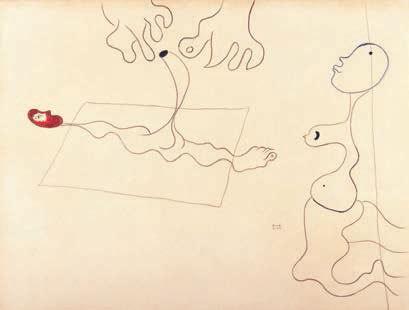 Joan Miró (1893-1983) Untitled, 1926 Mine de plomb, crayon et pastel sur papier, 460 x 620 mm. Signé et daté en bas à droite : Miro 5.26.