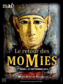 « Le retour des momies », exposition du 1er mars au 21 septembre 2014 au Musée Anne-de-Beaujeu à Moulins