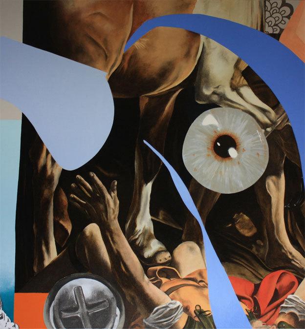 Sans titre - detail - 2009 - Acrylique Fusain sur toile - 146 x 97