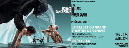 Ballet du Grand Théâtre de Genève, les 15 et 16 avril 2014 au Monaco Dance Forum