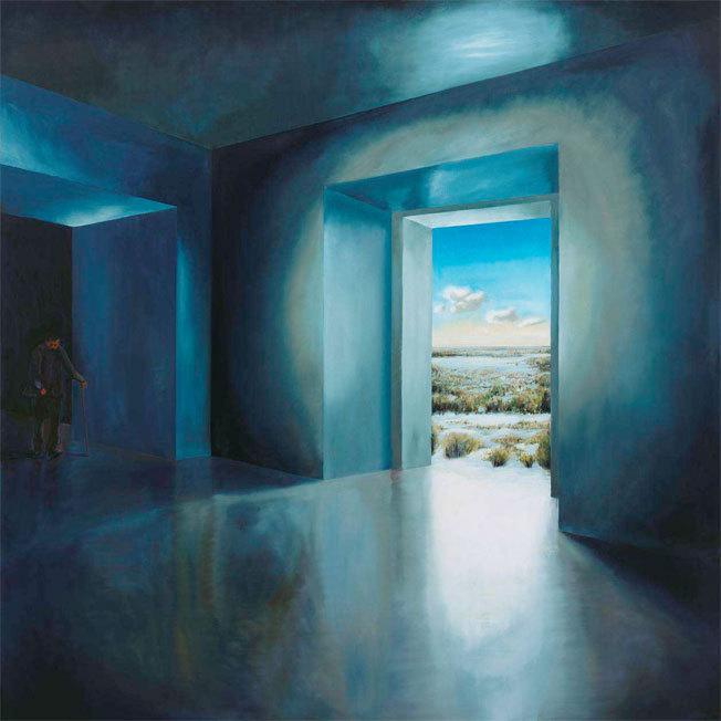Mnémosyme, 2012, huile sur toile, 200x200cm