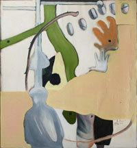 Jean-Michel Alberola, Ceux qui protègent, 1990-1991 Huile sur toile - 120 x 110 cm Legs Henrik Berggreen en 2013 - MAMAC, Nice Photo Muriel Anssens - © ADAGP, Paris, 2014