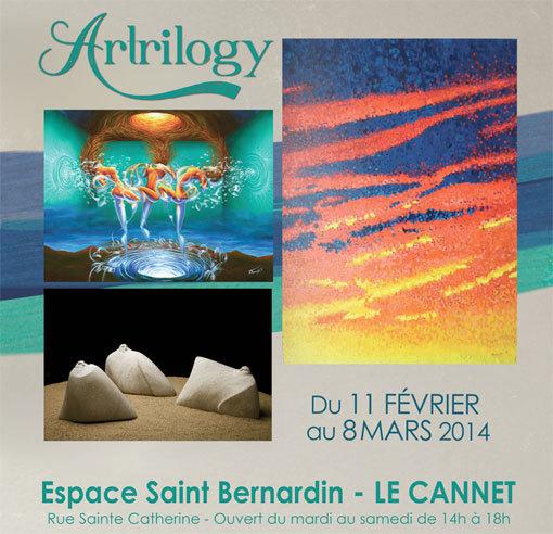 Artrilogy. Exposition en la Chapelle Saint Bernardin, Le Cannet (06) du11 février au 8 mars 2014