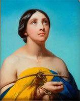 Larivière C.P Auguste (1798-1876) Portrait de femme les bras liés, Amiens, MBA© Musée de Picardie-Irwin Leullier