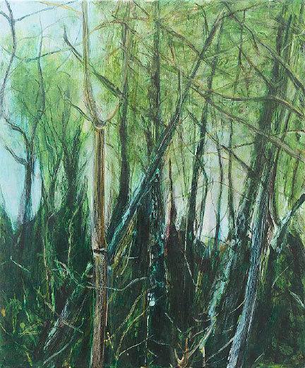 Clément Montolio, Sans titre 2014, acrylique sur toile- 55 x 46 cm