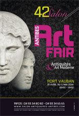 42e Salon d'Antiquités, Art Moderne et Contemporain - Antibes Art Fair - Du 19 avril au 5 mai 2014
