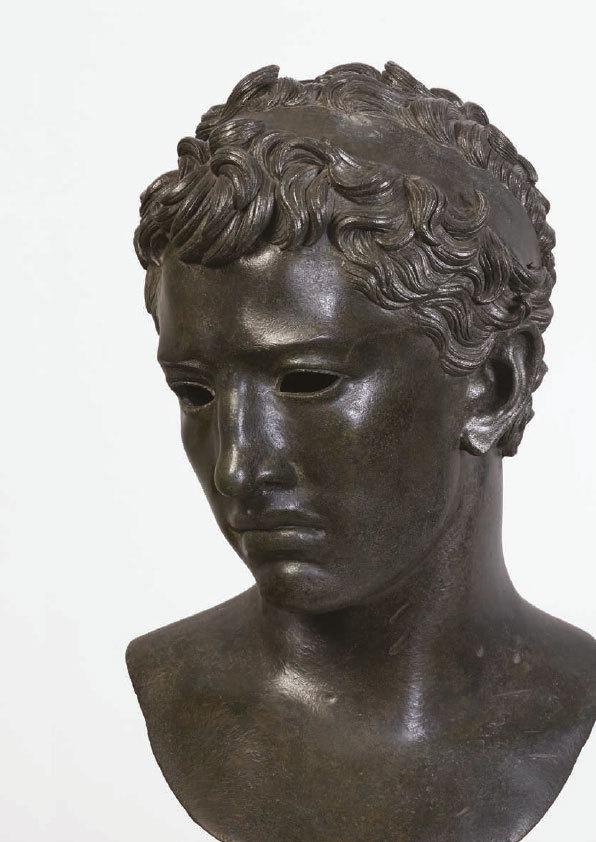Buste de Juba II, bronze, Volubilis, Maroc, vers 25 av. J.-C., Musée archéologique de Rabat, Maroc © Direction du patrimoine culturel, Ministère de  la culture du Royaume du Maroc. Photo : MuCEM / YvesInchierman
