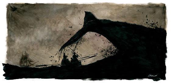 Chabouté, Moby Dick - Exposition inaugurale de Huberty-Breyne Gallery Paris, du 4 Avril au 3 mai 2014