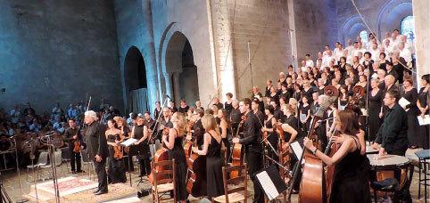 Michel Piquemal, Grand chœur du Festival, Ensemble Contrepoint en 2013 © P.A.