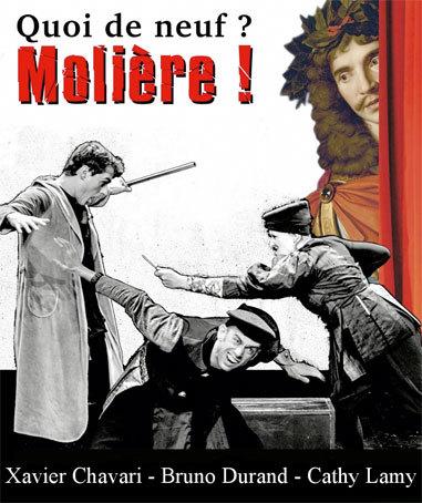 Quoi de neuf ? Molière ! Trois comédiens revisitent l'auteur à l'aune de notre actualité, Avignon Off 2014, Théâtre Notre-Dame du 5 au 27 juillet 2014