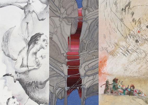Exposition De fil et d'encre à la Galerie Claire Corcia, Paris, du 11 septembre au 3 octobre 2014