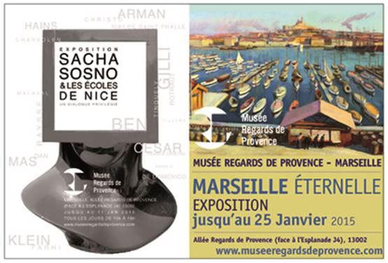 Sacha Sosno et les écoles de Nice : Un dialogue privilégié. Musée Regards de Provence du 12 Septembre au 11 Janvier 2O15. Par Philippe Oualid
