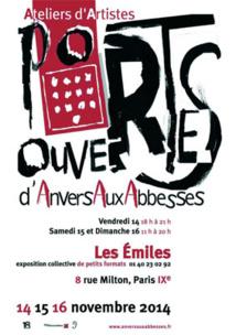 Portes ouvertes d'Anvers aux Abbesses, Paris, du 14 au 16 novembre 2014