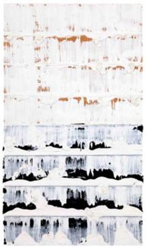 Jacques Clauzel  Circa 1998, acrylique sur papier kraft plié et usé, 32 x 19 cm