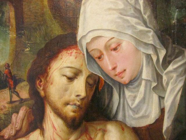 La Pietà de Pourrières (détail)