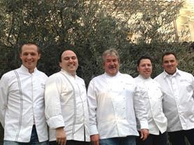 Dîner de Chefs Châteaux & Hôtels Collection au profit des Restaurants du Cœur, à Pont de l'Isère (Drôme) le 4 décembre 2014