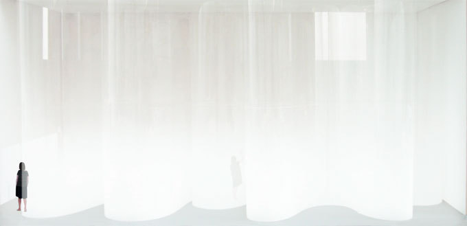 Susanna Fritscher, maquette pour la réalisation de l'exposition Promenade Blanche / Weisse Reise au Frac Franche-Comté, 2013 © Susanna Fritscher crédits photo : Susanna Fritscher, Laurent Tessier