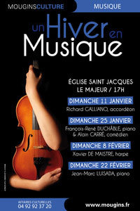 Un Hiver en Musique à Mougins, du 11 janvier au 22 février 2015