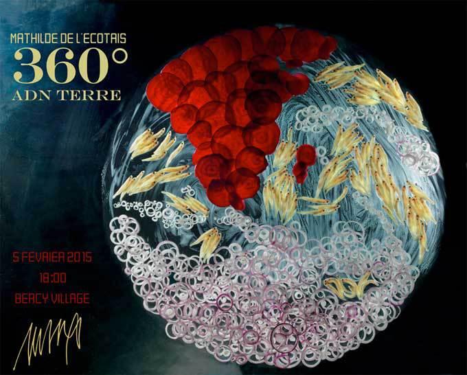 Exposition Mathilde de l'Ecotais : 360° ADN Terre, du 5 février au 31 mai 2015 dans les passages de Bercy Village, Paris
