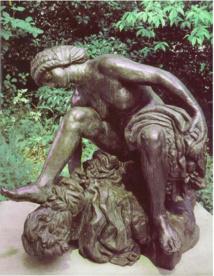 E-A Bourdelle, Grande baigneuse accroupie, Fonte, 1988, Bronze patiné N° 4/8
