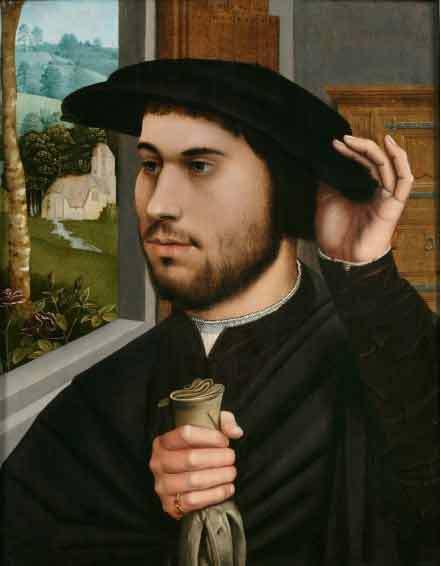 Ambrosius Benson Portrait of a Man c. 1530 Huile sur bois Private Collection