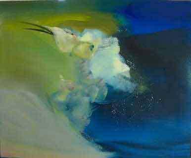 Nocturne, huile sur toile, 65 x 54 cm, 2014