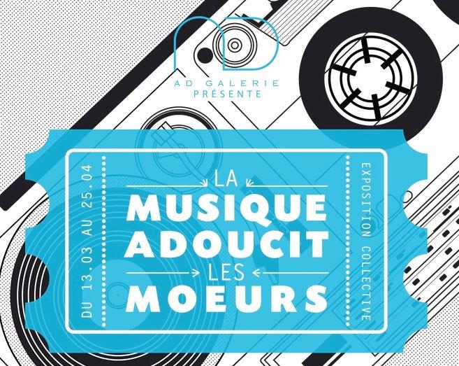 """Exposition """"la musique adoucit les moeurs"""", AD Galerie, Montpellier, du 13 mars au 25 avril 2015"""