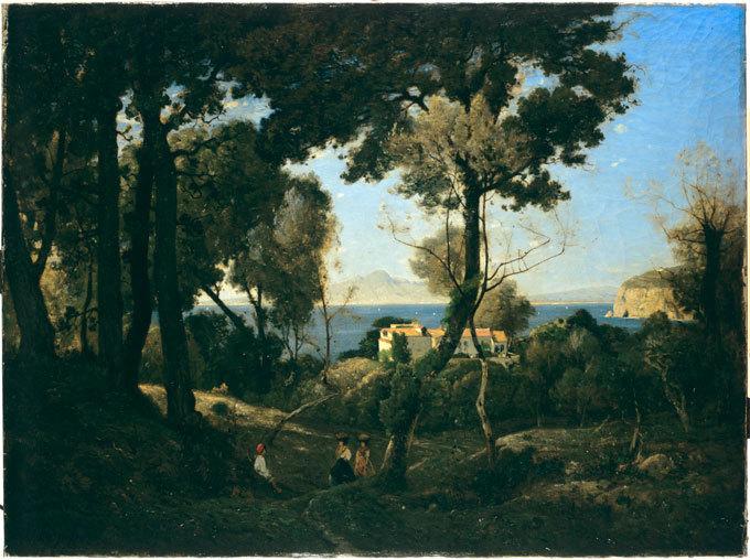 Henri Harpignies, Le Vésuve, vue prise depuis Sorrente, 1866