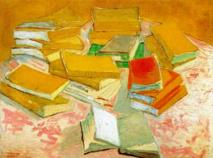 Vincent van Gogh, Piles de romans français, 1887  Huile sur toile, 54,4 x 73,6 cm  Van Gogh Museum, Amsterdam (Vincent van Gogh Foundation)