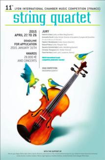11e concours international de musique de chambre de Lyon, Quatuor à cordes, 22 au 26 varil 2015