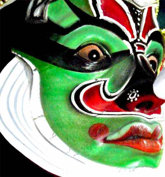 Visage d'un artiste Kathakali © DR