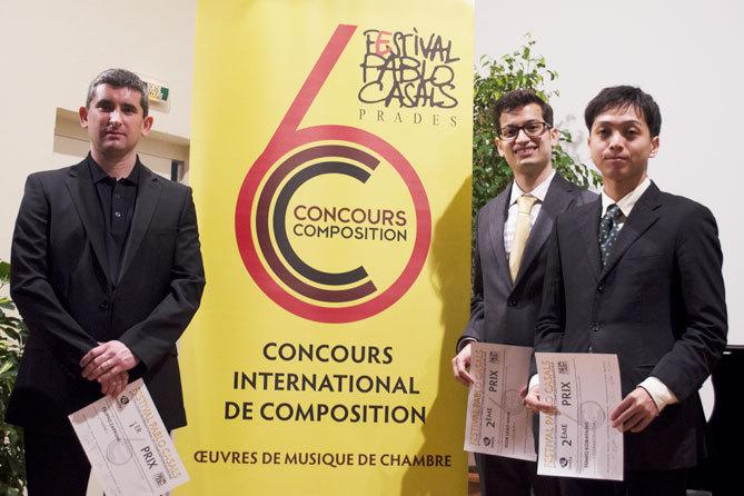 Le podium - Filippo Zapponi - Lauréat du concours; Igor Leão Maia et Sumio Kobayashi