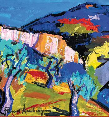 Pascal Ambrogiani, La passion de la couleur, exposition du 24 avril au 10 juin 2015 à la Ferme des Arts, Vaison-la-Romaine