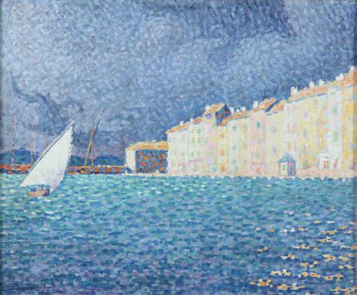 Paul Signac, (1869-1935), Saint-Tropez, l'orage, 1895, Huile sur toile, 46 x 55 cm, Achat de la ville de Saint-Tropez en 1993, Annonciade, musée de Saint-Tropez © P.S. Azema