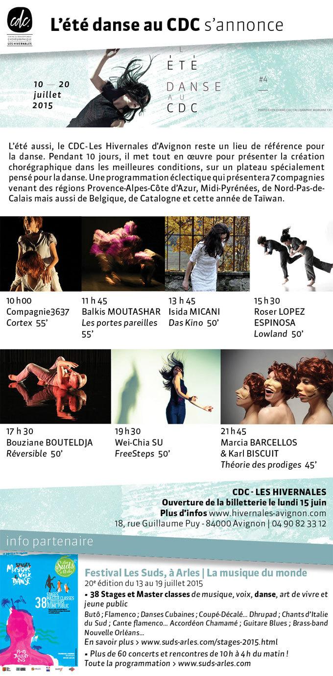 L'été danse au CDC #4 du 10 au 20 juillet, Avignon Off 2015