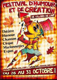 Festival d'humour et de création de Villard-de-Lans du 26 au 31 octobre 2015