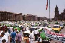 Mexico grève des taxis