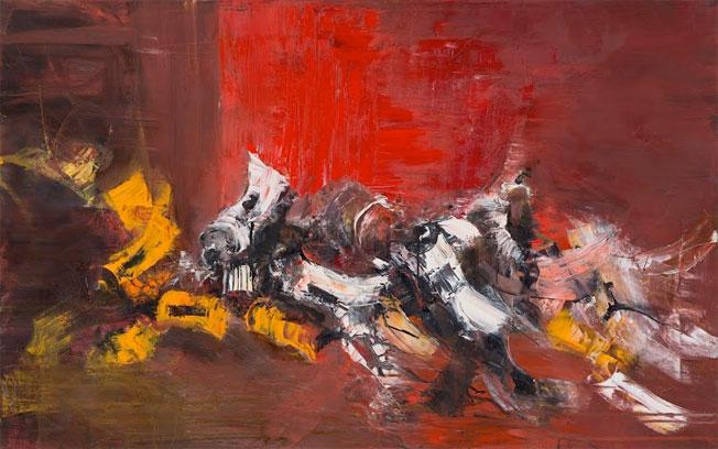 Atelier Rouge - 2015 - HST - 73x116 cm