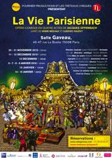 La troupe des Tréteaux Lyriques présente La Vie Parisienne de Jacques Offenbach à la salle Gaveau du 20 novembre 2015 au 15 janvier 2016