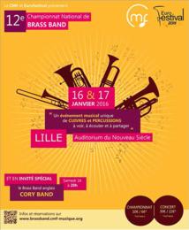 12e Championnat National de Brass Band à Lille du 16 au 17 janvier 2016
